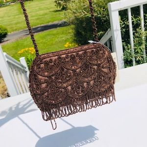 NWT Coldwater Creek beaded mini shoulder purse